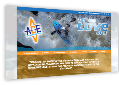 Ace Kayaking School Website