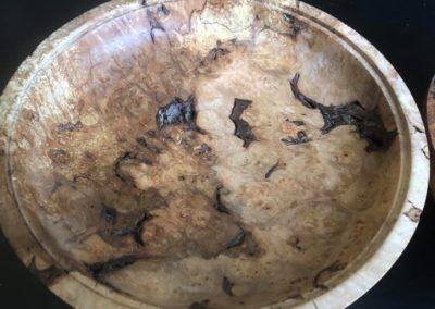 burl lidded platter inside