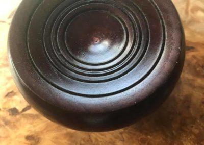 burl lidded platter top