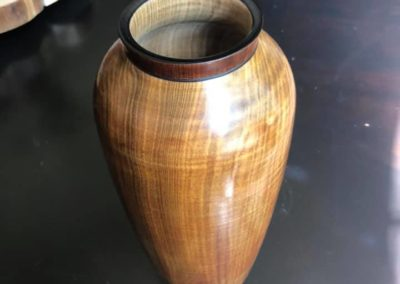 Fiddleback Maple Vase
